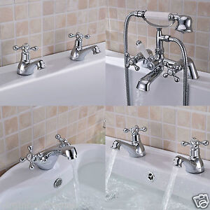 STAFFORD-CLASSIC-BATHROOM-SINK-BASIN-MONO-MIXER-BATH-FILLER-SHOWER-TAP-CHROME