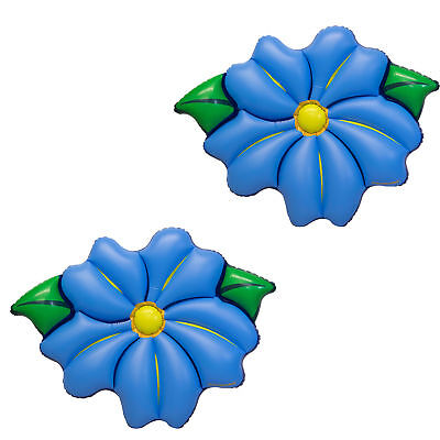 Swimline Inflatable PVC Primrose Flower Relaxation Pool Float, Blue (2 Pack) - Inflatable Flowers