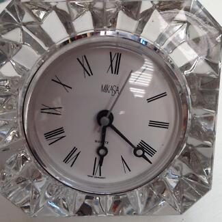 MIKASA Crystal Table clock made in Germany