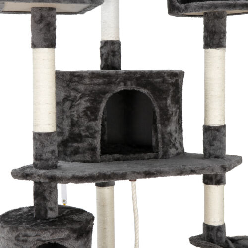 79in Multi-Level Cat Trees with Sisal-Covered Scratching Posts for Kittens Cats Cat Supplies