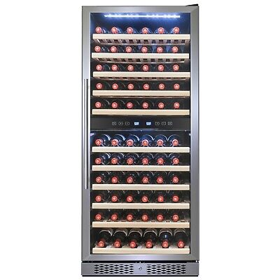 116 Bottle Capacity Dual Zone Compressor Touch Control Freestanding Wine Cooler