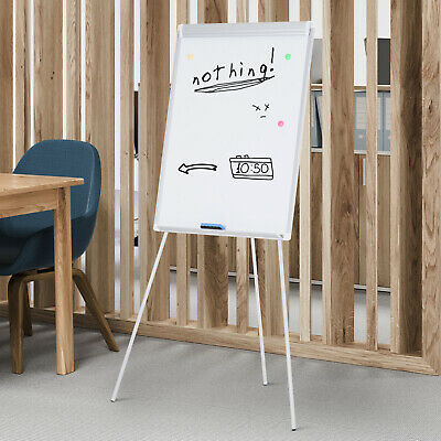 24x 36 Easel Tripod Magnetic White Board Flipchart Dry Erase Height Adjustable