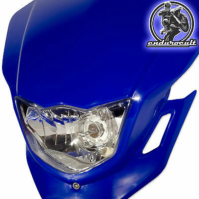 Lampenmaske blau für Yamaha/Honda/Kawaski (Enduro,Lampe,Scheinwerfer,Maske)
