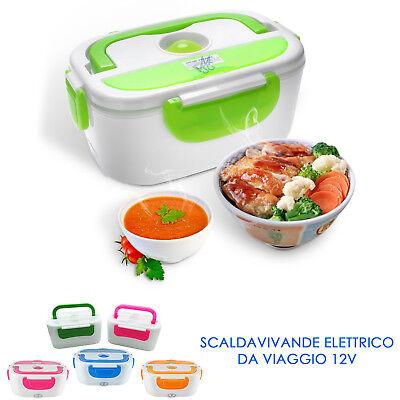 Scaldavivande Elettrico 12V Porta Alimenti Box Pranzo da Viaggio Ufficio Auto