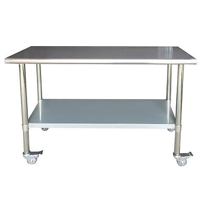 Sportsman Series Stainless Steel Work Table With Casters 24 X 60 Inches