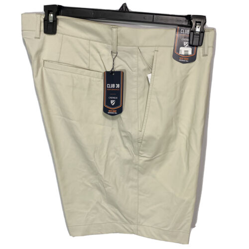 """Cremieux Mens Performance Deck Shorts 38 Flat Front Golf Stretch Twill Stone 8"""" Clothing, Shoes & Accessories"""