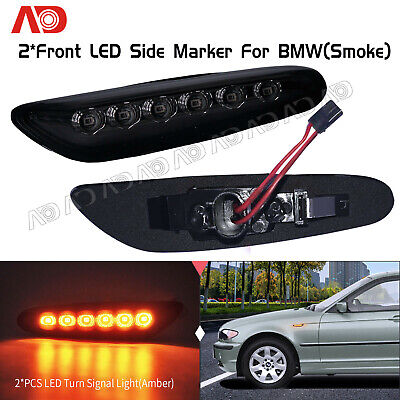 For BMW 325i 330i 328i 335i E46 E60E61 E81E82 E83E84 Smoked LED Side Marker Lamp