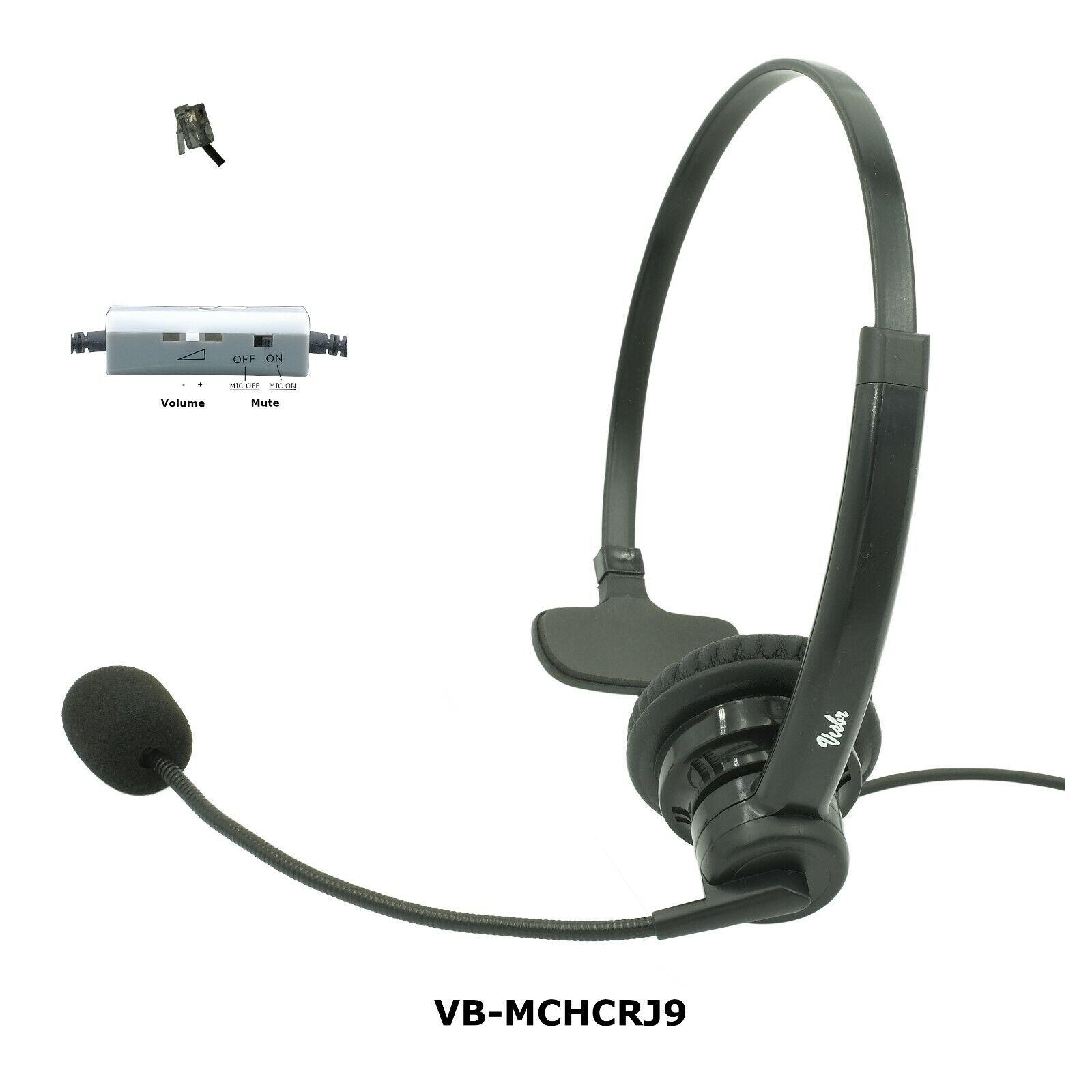 ShoreTel Phone headset, Noise Canceling Rotatable Microphone