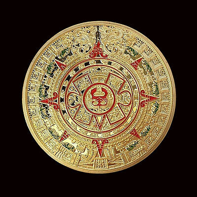 Mayan Aztec Prophecy Long-count Calendar Commemorative Coin Medallion Medal