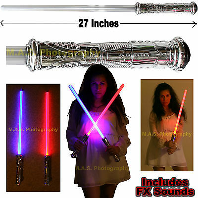 1 STAR WARS LED FX LIGHTSABER LIGHT SABER CHANGES COLOR MAKES SOUND WHEN STRUCK (Led Saber)