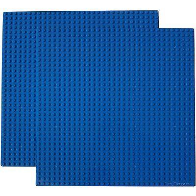 "Genuine LEGO brick-piece + 2 Blue 10x10"" Base plates compatible with LEGO 32x32"
