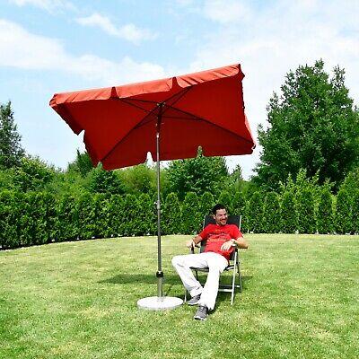Rechteckiger Sonnenschirm Tisch (200 × 125 cm Sonnenschirm Marktschirm Gartenschirm Terrassenschirm Quadratisch)