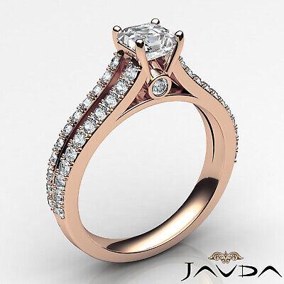 Asscher Shape Diamond Engagement Prong Set Ring GIA Certified F Color VS2 1.15Ct 10