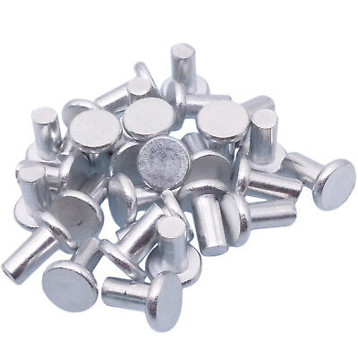 Countersunk Aluminum Rivet - US Stock 100x 5mm Dia 10mm Shank CSK Flat Countersunk Head Aluminum Solid Rivets