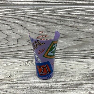 Lolita Party Shots 21 21st Birthday 2oz Hand Painted Shot Glass Purple](21st Birthday Shot Glass)