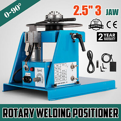 10kg Rotary Welding Positioner Turntable Table 2.5 3 Jaw Lathe Chuck 110v