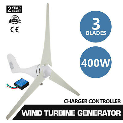 400W Wind Turbine Generator 20A Wind Charger Controller Home -