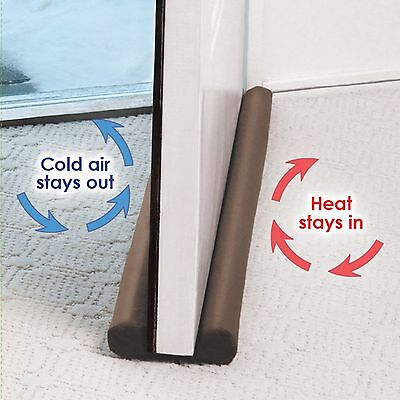 Twin Door Draft Dodger Guard Stopper For Doors Windows Protector Doorstop  NoBOX