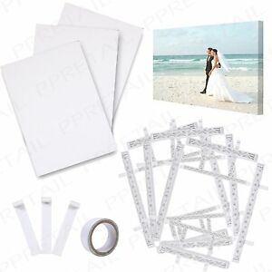 7Pc DIY CREATE/PRINT YOUR OWN PHOTO WALL CANVAS CRAFT KIT Paper Frame & Tape Set