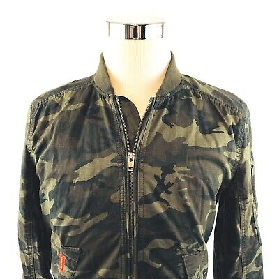 SuperDRY Rookie Duty Bomber Camouflage Windbreaker Jacket Mens  S/XL NWT $100