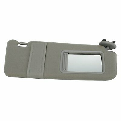 Right Passenger Sun visor Gray For 2007-2011 Toyota Camry without Vanity Light