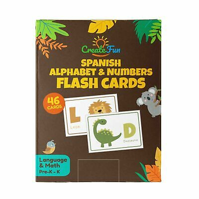 Spanish Animal 123 and ABC Flash Cards for Toddlers & Kindergarten Kids