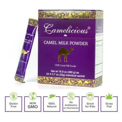 Camel Milk Powder Camelicious 1 Box 100% Natural - 24 sachets x 20g (480g) HALAL