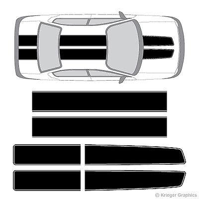 Dodge Neon or SRT-4 EZ Rally Racing Stripes 3M Vinyl Stripe Decals Graphics