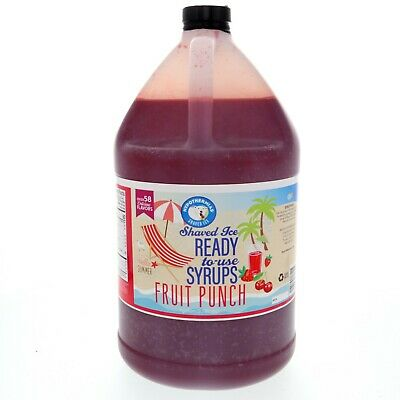 Hawaiian Shaved Ice Or Snow Cone Syrup Ready To Use Fruit Punch 128 Fl. Oz