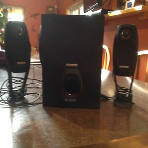 Subwoofer and speakers for computer