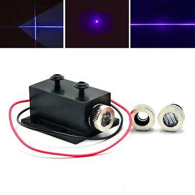3in1 Focusable 405nm 20mw Dot Line Cross Violetblue Laser Module W Heatsink