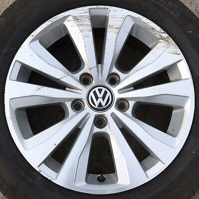 "Genuine VW Golf 16"" Toronto Alloy Wheel 10 spoke Silver Polished Rim Tyre 205 55"