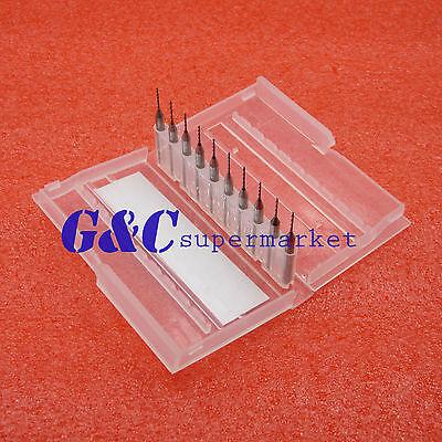 0.8mm Mini Micro Carbide Steel Engraving Drill Bit Pcb Press Cnc Dremel New