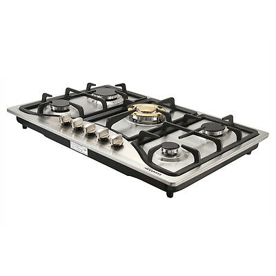"USA 30""COOKTOP Steel Built-in 5 Burners Stove LPG/NG Gas Hob"