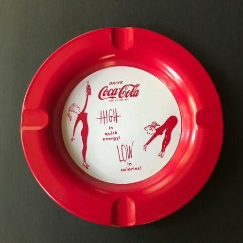 Drink Coca Cola Metal Ashtray 1950