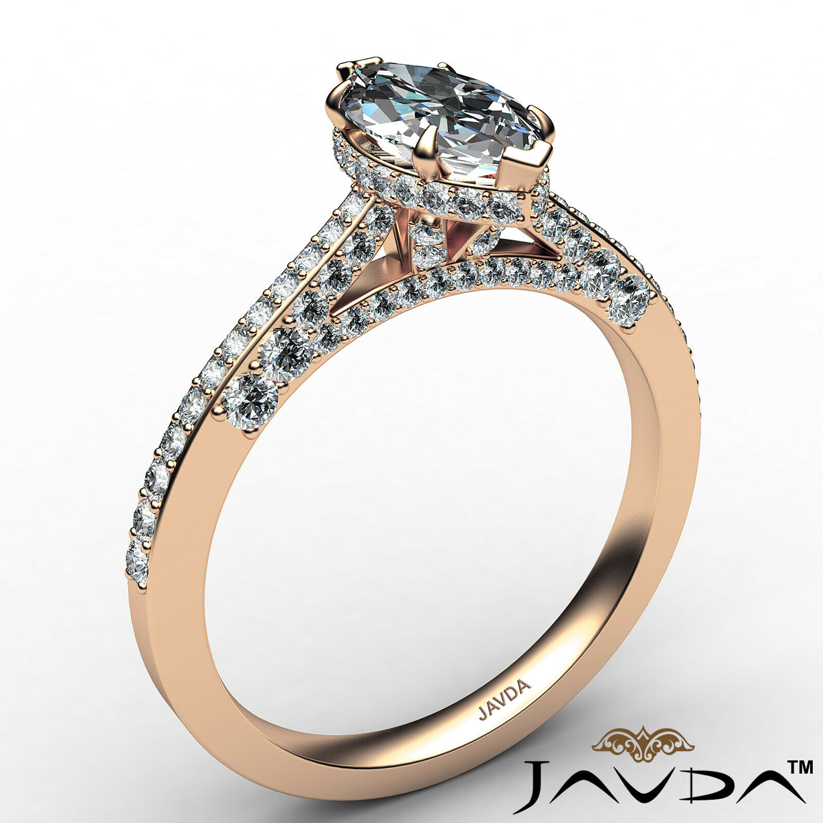 Circa Halo Marquise Diamond Engagement Ring GIA G Color & VVS2 clarity 1.1 ctw 5