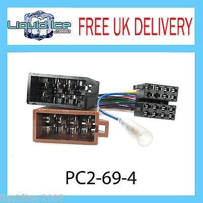 PC2-69-4 Volkswagen Polo Sharan ISO Stereo Head Unit Harness Adaptor Loom Lead