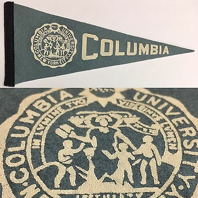 1950S Columbia Lions New York College University Mini Pennant 4X9 Ivy League Cit