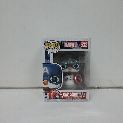 Captain America Christmas (Funko Pop! Marvel Christmas Holiday Cap Snowman Captain America #532)