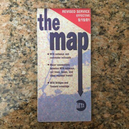 September 11, 2001 - New York City MTA Subway Map - World Trade Center