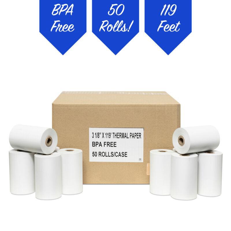 NEW Thermal Paper Rolls 3-1/8 X 119 50 Rolls For Star Micronics SM-T300 SM T300i