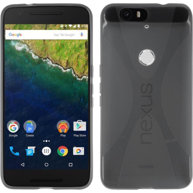 Silicone Case Google Nexus 6P - X-Style gray + protective foils