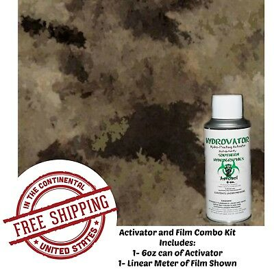 Hydrographic Water Transfer Hydro Dip 6oz Activator Brown Camo Kit