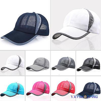 Golf Mesh Cap (Damen Herren Mesh Basecap Kappe Trucker Baseball Sport Tennis Golf Hüt Sonnenhut)