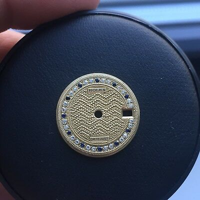 Rolex 18K Gold Diamond And Sapphire Dial For ladies President Watch Rare