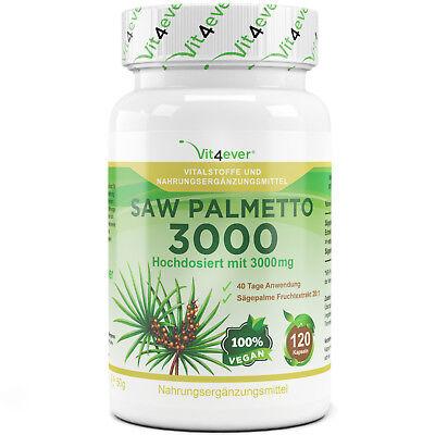 Saw Palmetto Extrakt 3000 mg - 120 Kapseln - Sägepalme - Prostata Potenz Sex - Sägepalme 120 Kapsel