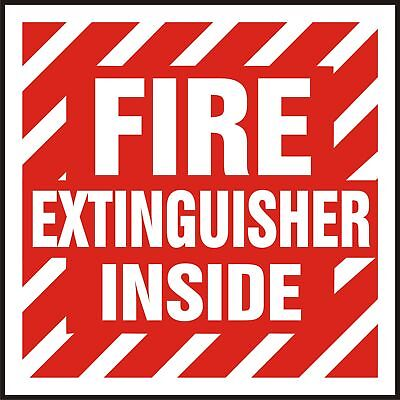 Fire Extinguisher Inside Reflective Sticker 4 X 4 Screen Printed 3m 3200 Eg
