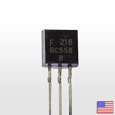 10x 10pcs Bc558b Pnp Bipolar Amplifier Transistor Bjt Bc558 - Free Shipping