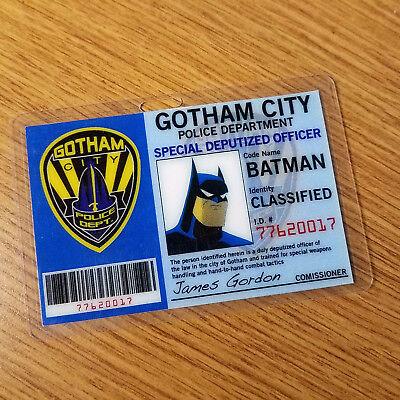 Batman Id Badge-Gotham City Batman Animated Cosplay Kostüm (Gotham City Kostüme)
