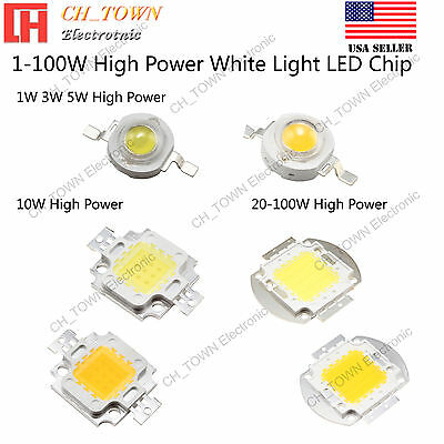 High Power 1W 3W 5W 10W 20W 30W 50W 100W White SMD LED COB C